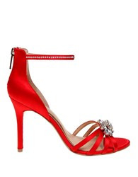 Belle By Badgley Mischka Star Ankle Strap Sandals Red