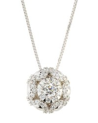 Memoire 18K Diamond Bouquets Seashell Pendant Necklace