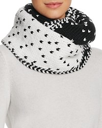 Genie By Eugenia Kim Dakota Ombre Knit Cowl Infinity Scarf White Black
