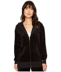 Juicy Couture Beachwood Velour Jacket Pitch Black Women's Coat