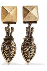 Valentino Rockstud Gold Tone Earrings Brass
