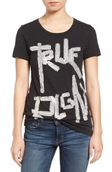 True Religion Women's Brand Jeans Hot Fixx Cotton Tee