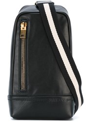 Bally Striped Strap Crossover Backpack Black