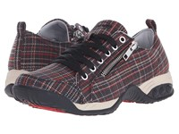 Therafit Sienna Dark Plaid Women's Lace Up Casual Shoes Gray