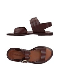 Avril Gau Sandals Maroon