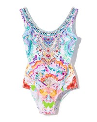 Camilla Watercolor Print One Piece Swimsuit Size 4 10 Multi