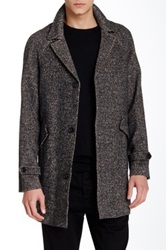 Billy Reid Wool Blend Car Coat Multi