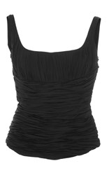 Brock Collection Tala Ruched Tank Top Black