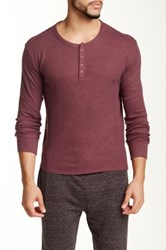 Bottoms Out Thermal Henley Tee Red