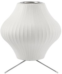 Herman Miller Pear Table Lamp With Tripod Stand Small 13 In D White
