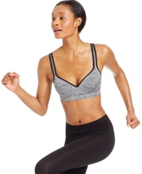Ideology Padded Convertible Strap Mid Impact Sports Bra Noir Heather