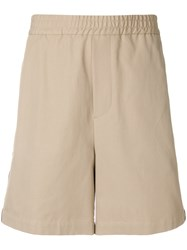 Msgm Side Stripe Shorts Nude And Neutrals