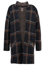 Anna Field Cardigan Navy Brown Dark Blue