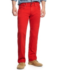 True Religion Relaxed Straight Fit Colored Jeans True Red