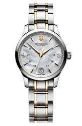 Victorinox 'Alliance' Bracelet Watch 30Mm Silver Gold