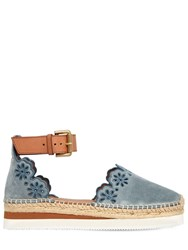 See By Chloe 40Mm Glynn Laser Cut Espadrilles Light Blue