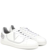 Valentino Garavani Exclusive To Mytheresa Backnet Leather Sneakers White