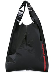 Raf Simons Printed Slouchy Tote Men Plastic One Size Black