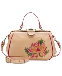 Patricia Nash Painted Lilly Grachhi Medium Satchel Sand