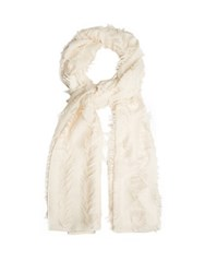 Chloe Fil Coupe Wool And Silk Blend Scarf Cream