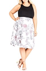 City Chic Plus Size Women's Spring Affair Fit And Flare Dress