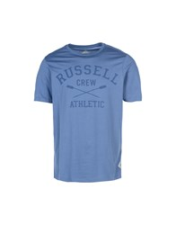 Russell Athletic T Shirts Slate Blue