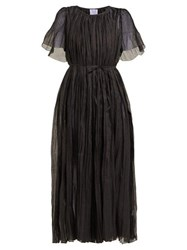 Thierry Colson Sabina Pleated Cotton Blend Dress Black