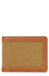 Filsone Outfitter Leather And Canvas Bifold Wallet Brown Tan