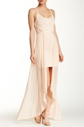 Wow Couture Hi Lo Bodycon Dress Pink