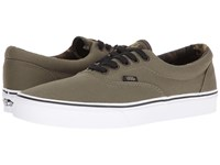 Vans Era Vintage Camo Ivy Green Black Skate Shoes Brown