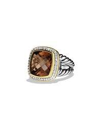Albion Ring With Smoky Quartz Diamonds And Gold David Yurman