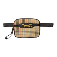 Burberry Beige And Black Small 1983 Check Link Bum Bag