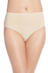 Women's Nordstrom Lingerie Seamless Full Briefs Beige Soft