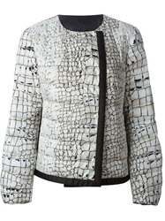 Moncler Gamme Rouge Printed Padded Jacket Yellow And Orange