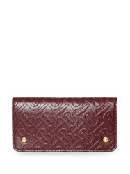 Burberry Monogram Leather Phone Wallet Red