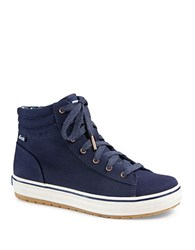 Keds Hi Rise Canvas High Top Sneakers Navy Blue