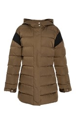 Adeam Quilted Puffer Coat Green