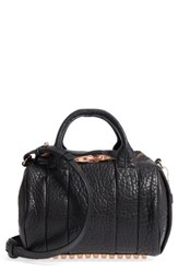 Alexander Wang Rockie Dumbo Leather Satchel Black