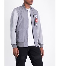Christopher Raeburn Mesh Space Patches Bomber Jacket Grey