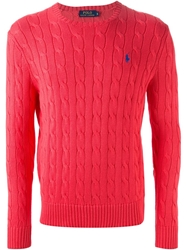 Polo Ralph Lauren Cable Knit Sweater Red