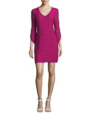 Laundry By Design Floral Lace Dress Festival Fuchsia