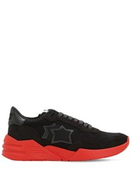 Atlantic Stars Mars Suede And Nylon Running Sneakers Multicolor