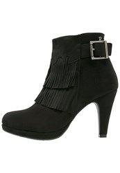 Refresh High Heeled Ankle Boots Black