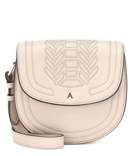 Altuzarra Ghianda Saddle Leather Shoulder Bag Beige