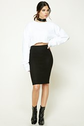 Forever 21 Marled Fleece Skirt