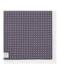 Reiss Diego Mens Houndstooth Pocket Square In Blue