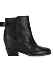Mm6 Maison Margiela Hidden Wedge Ankle Boots Black