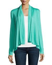 Lafayette 148 New York Ls Open Shawl Collar Cardiga Spearmint
