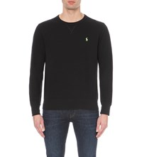 Ralph Lauren Crew Neck Cotton Jersey Sweatshirt Polo Black