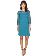 Christin Michaels Enigma Dress Teal Honor Women's Dress Blue